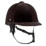 FOUGANZA Reithelm C400 Velours 52-59cm schwarz, Größe: 53 cm