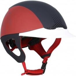 FOUGANZA Reithelm Safety Cabriole rot/marineblau, Größe: XS