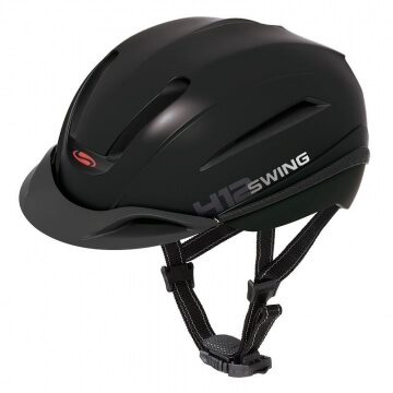 WALDHAUSEN Reithelm Swing H12 glatt, größenverstellbar, schwarz, Größe: 53-59 cm